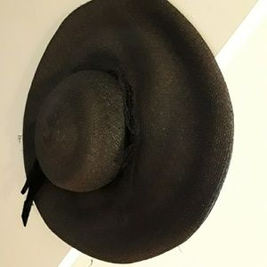BEtsey Johnson black sun hat large